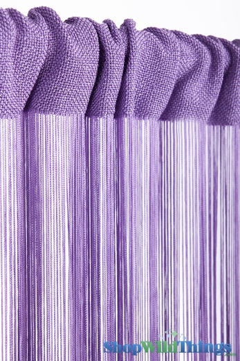 String Curtain Light Lilac 3 ft x 7.3 ft - Rayon