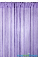 String Curtain Light Lilac 3' x 7.3' - Rayon