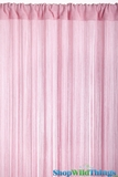 "String Curtain Light Pink  - 18 Strings Per Inch! - 36"" x 90"""