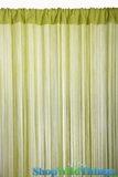 String Curtain Lime 3 ft x 7.3 ft - Rayon