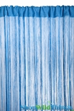String Curtain Mediterranean Blue 3 ft x 7.3 ft - Rayon