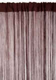 "String Curtain Mink Brown - 18 Strings Per Inch! - 36""  x 88"""