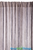 String Curtain Multi Browns 3' x 7.3' - Rayon