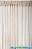 String Curtain Natural 3 ft x 7.3 ft - Rayon