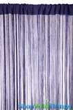 String Curtain Dark Indigo Blue Purple 3 ft x 7.5 ft - Rayon