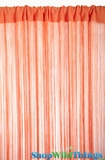 String Curtain Orange 3' x 7.3' - Rayon