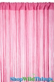String Curtain Pink 3 ft x 7.3 ft - Rayon