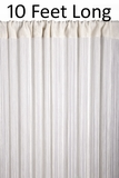 "String Curtain Rayon (Fire Rated) 36""x120"" (10 Feet) Off-White"