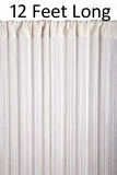 "String Curtain Rayon (Fire Rated) 36""x144"" (12 Feet) Off-White"
