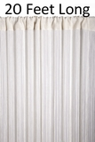 String Curtain Off-White 3 ft x 20 ft - Fire Treated Rayon