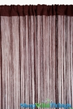 String Curtain Brown 3' x 7.3' - Fire Treated Rayon