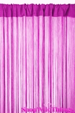 String Curtain Fuchsia Pink 3 ft x 7.3 ft - Fire Treated Rayon