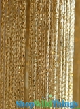 "String Curtain Rayon (Fire Rated) 36""x88"" Gold W/ Gold Metallic Lurex"