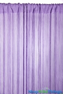 String Curtain Lilac 3' x 7.3' - Fire Treated Rayon