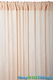 String Curtain Natural 3 ft x 7.3 ft - Fire Treated Rayon