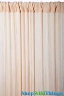 String Curtain Natural 3' x 7.3' - Fire Treated Rayon