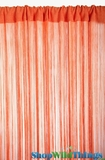 String Curtain Orange 3 ft x 7.3 ft - Fire Treated Rayon