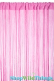 String Curtain Pink 3 ft x 7.3 ft - Fire Treated Rayon