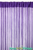 String Curtain Purple 3 ft x 7.3 ft - Fire Treated Rayon