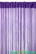 String Curtain Purple 3' x 7.3' - Fire Treated Rayon