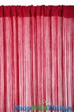 "String Curtain Rayon (Fire Rated) 36""x88"" Red"