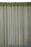 String Curtain Sage Green 3 ft x 7.3 ft - Fire Treated Rayon