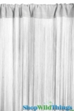 String Curtain Silver & Metallic Silver Lurex 3' x 7.3' - Fire Treated Rayon