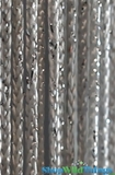 "String Curtain Rayon (Fire Rated) 36""x88"" Silver W/ Silver Metallic Lurex"