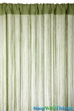 String Curtain Safari Green 3 ft x 7.3 ft - Rayon