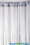 "String Curtain Silver W/ Lurex 18 Strings Per Inch! 36"" x 88"""