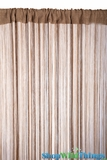 String Curtain Taupe 3 ft x 7.3 ft - Rayon