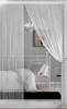 String Curtain White 3 ft x 7.3 ft - Rayon