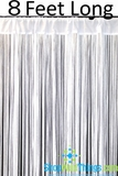 "String Curtain White 3 ft x 8 ft - Polyester & Cotton ""Nassau"""