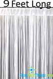 "String Curtain White 3 ft x 9 ft - Polyester & Cotton ""Nassau"""