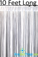 "String Curtain White 3' x 10' - Polyester & Cotton ""Nassau"""