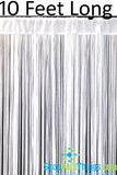 "String Curtain White 3 ft x 10 ft - Polyester & Cotton ""Nassau"""
