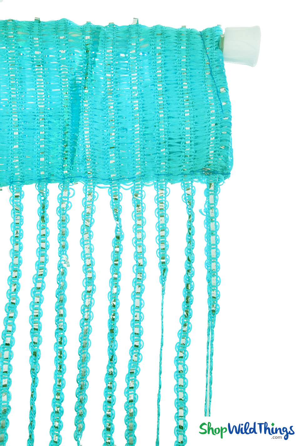 String Curtains - Sparkle Turquoise w/Tension Rod