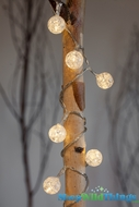 Lite String Crackle Balls - Battery Operated - 20 Lights, 7 Feet Long