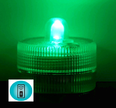Acolyte Sumix 1 - Green - Set of 10 - Submersible Remote Control Compatible LED Light