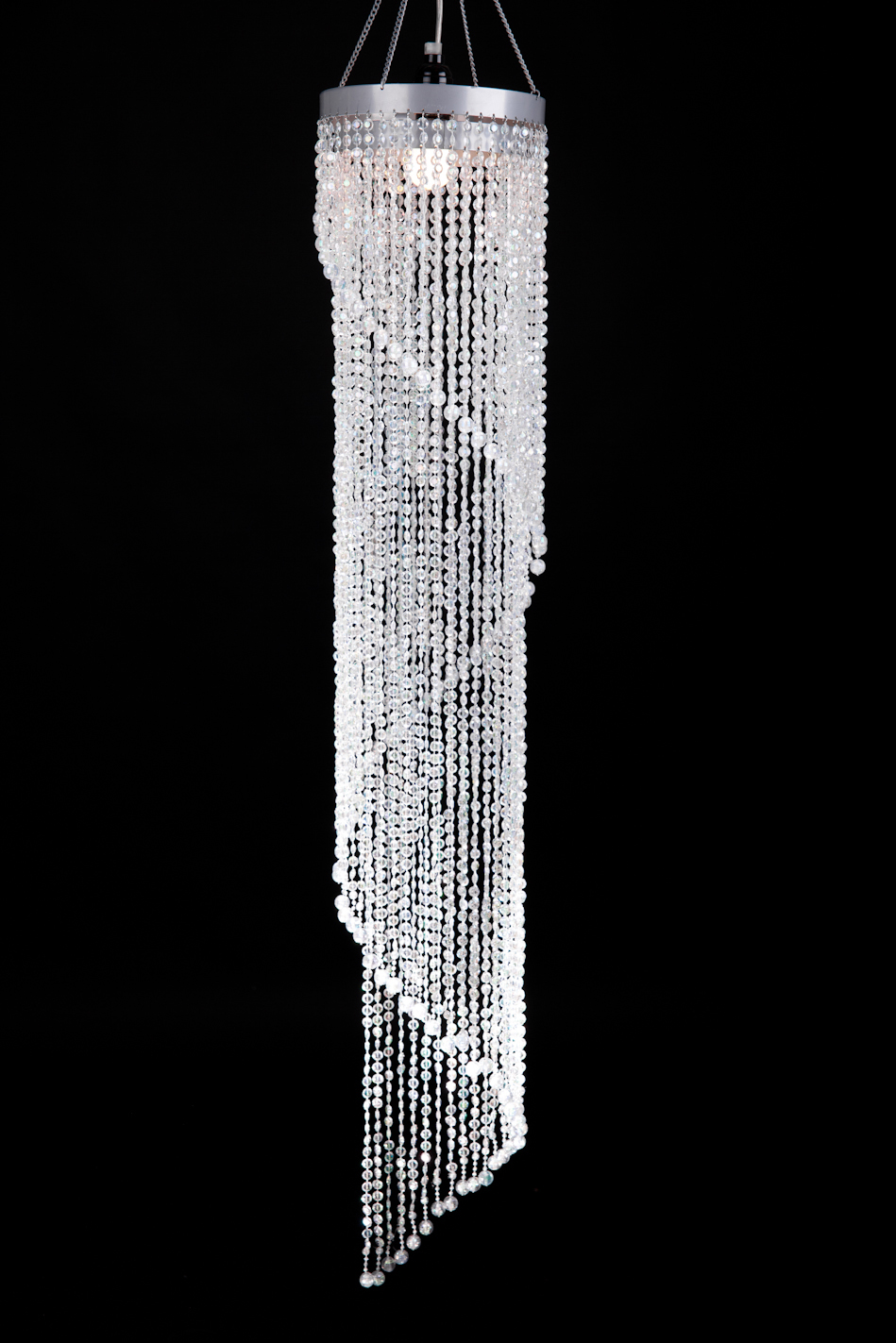 4ft Led Shop Light >> Crystal Beaded Swirl Chandelier, Wedding Chandeliers, Party and Event Swirl Lamp