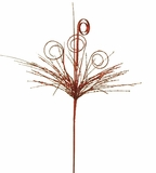 Doorbuster -  Swirl & Grass Pick - Metallic Red 30""