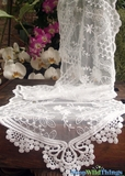 "Table Runner - Lace - Ivory - 12"" x 74"""
