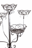 "Floral Stand ""Deville"" 60.5""H - Antique Silver - Holds 5 Pots or Large Candles"
