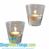 "Tapered Hanging Candle Holders  ""Faye""  (4.5"" x 4"" )"