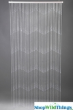 Teardrops Beaded Curtains - Clear Non-Iridescent Beads