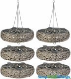 """""""The Bird fts Nest"""" Candle Holder Set of 6 - 20"""" Each for HUGE Impact!"""