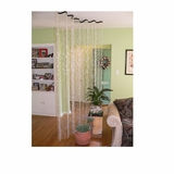 THE WAVE  8 ft Diamond Crystal Curtain or Room Divider