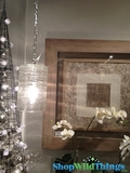 """Thick Blown Glass Cylinder Pendant Lamp W/ Pattern """"Laura"""" - 10.5"""" x 6.5"""""""