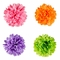 """Tissue Paper Pom Poms - 12"""" to 20"""" - Assorted Colors"""