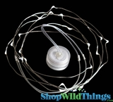 "Toronado 20 - 9' Memory Wire Waterproof Acolyte LED Light Strand - Small ""Hideable"" Round Battery Pack!"